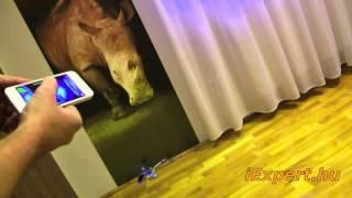 iHelikopter - bluetooth okostelefonról távirányítható, +2db oldal rotor
