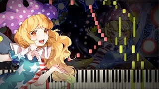 Synthesia: Touhou 15 - Pierrot of the Star-Spangled Banner | Piano Tutorial | by EpreTroll