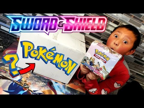 POKEMON SENT US A SURPISE BOX FILLED WITH NEW SWORD AND SHIELD POKEMON CARDS! BOOSTER BOX & MORE!