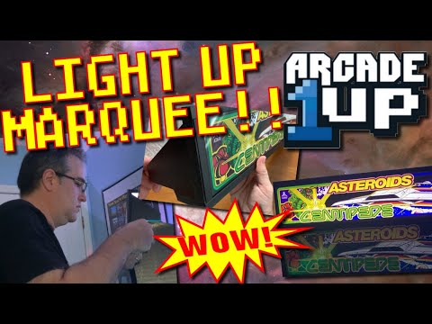 Arcade 1up Light Up Marquee Install (WOW!) from Greg's Game Room