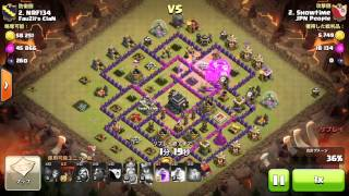 [Clash of Clans] Cold Blooded LaLoon @Showtime TH9 vs TH9