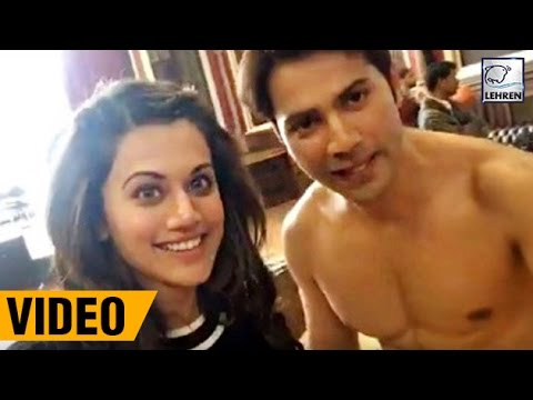 Varun Dhawan & Taapsee Pannu's LIVE VIDEO From 'Judwaa 2 Sets' | LehrenTV