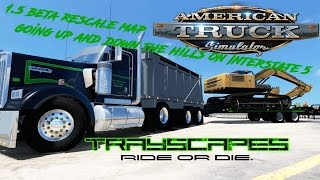 American Truck Simulator W900 dump truck TRAYSCAPES combo skins by Pauly