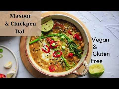 Easy Lentil & Chickpea Dal Vegan Recipe