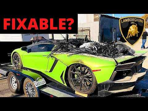 Bought BADLY BURNED Lamborghini Aventador From ROYALTY EXOTICS!! $300,000+ TO FIX!!