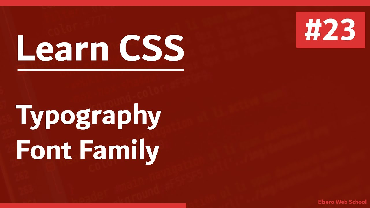 Learn CSS In Arabic 2021 - #23 - Typography - Font Family