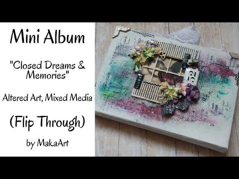 Mini Album, Mixed Media *Closed Dreams & Memories* (MakaArt) #9