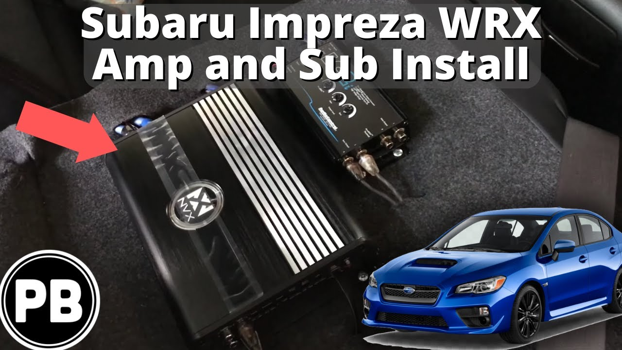 small resolution of 2015 subaru wrx subwoofer and amplifier install nvx and skar audio