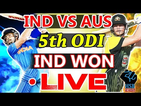 Live Match India vs Australia 5th ODI, Live Online Streaming, AUS win the toss and elect to Bat