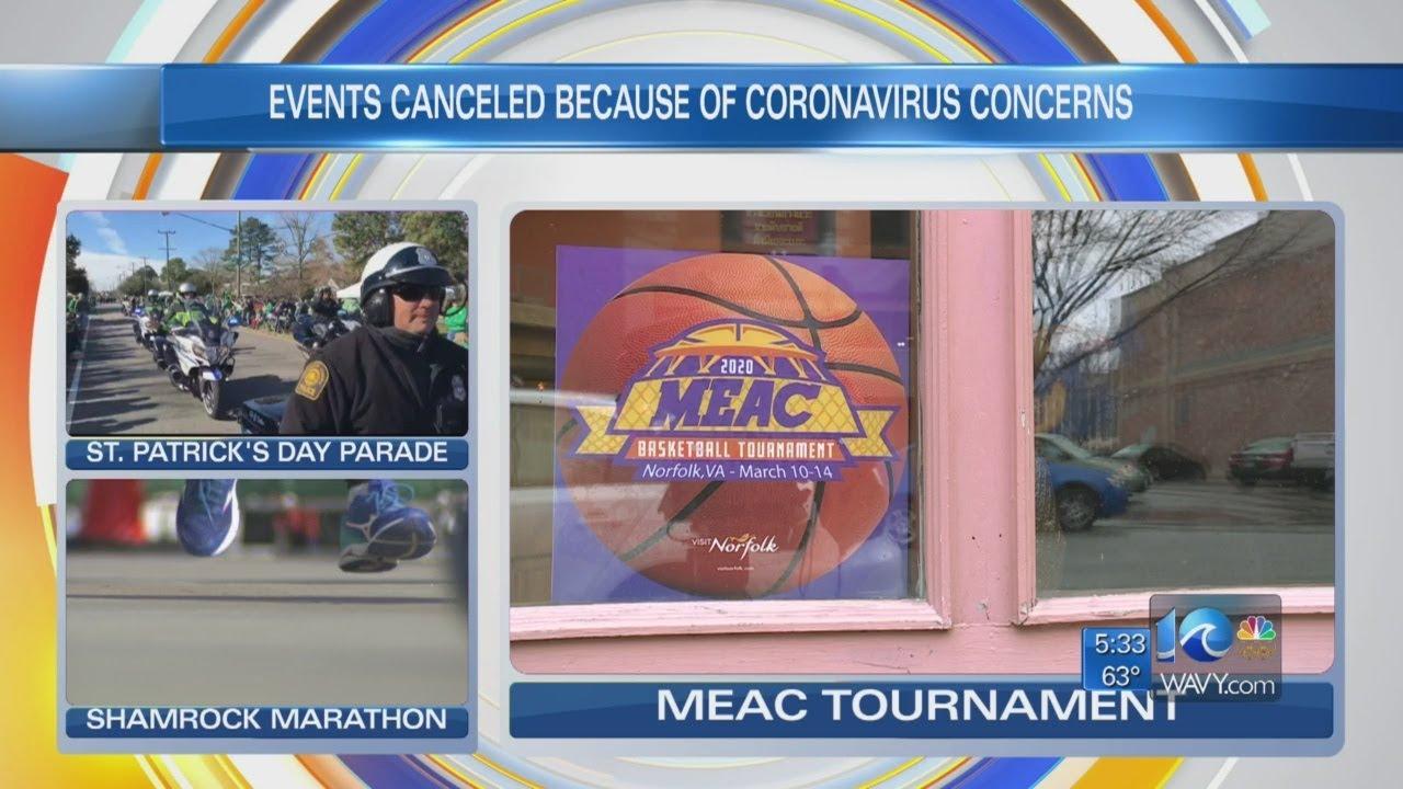Hampton Roads events canceled to prevent coronavirus spread - YouTube