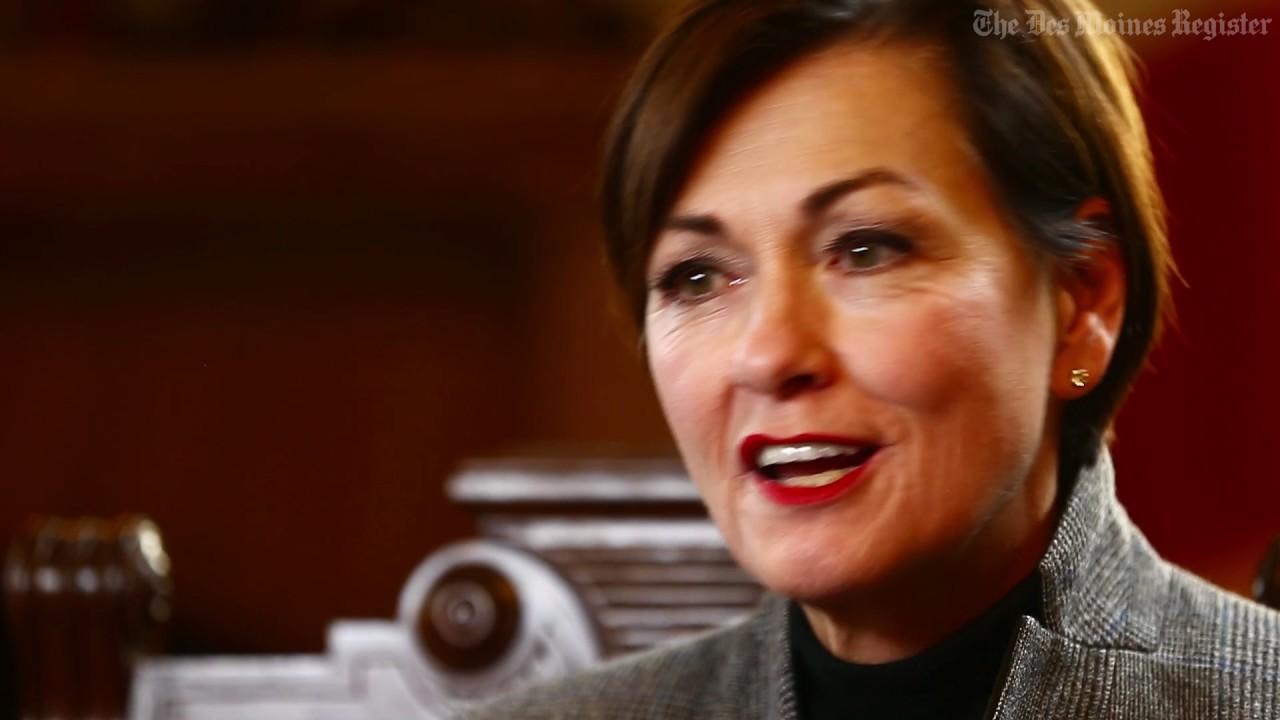 Iowa's first female governor, Kim Reynolds, still gets mistaken as politician's wife