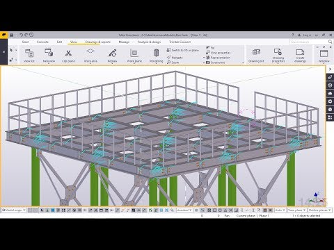 How to Create Steel Tank Tower Platform | Tekla Structures