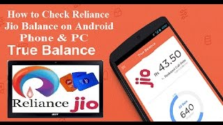 How to Check Reliance Jio Balance on Android Phone & PC