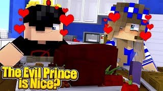 SAVING THE EVIL PRINCE?! w/Little Carly and Little Kelly (Minecraft).
