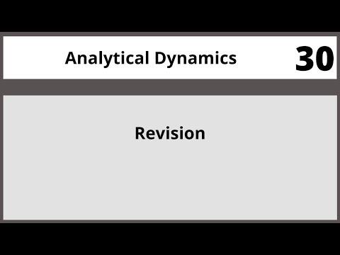Analytical Dynamics in Hindi Urdu MTH382 LECTURE 30