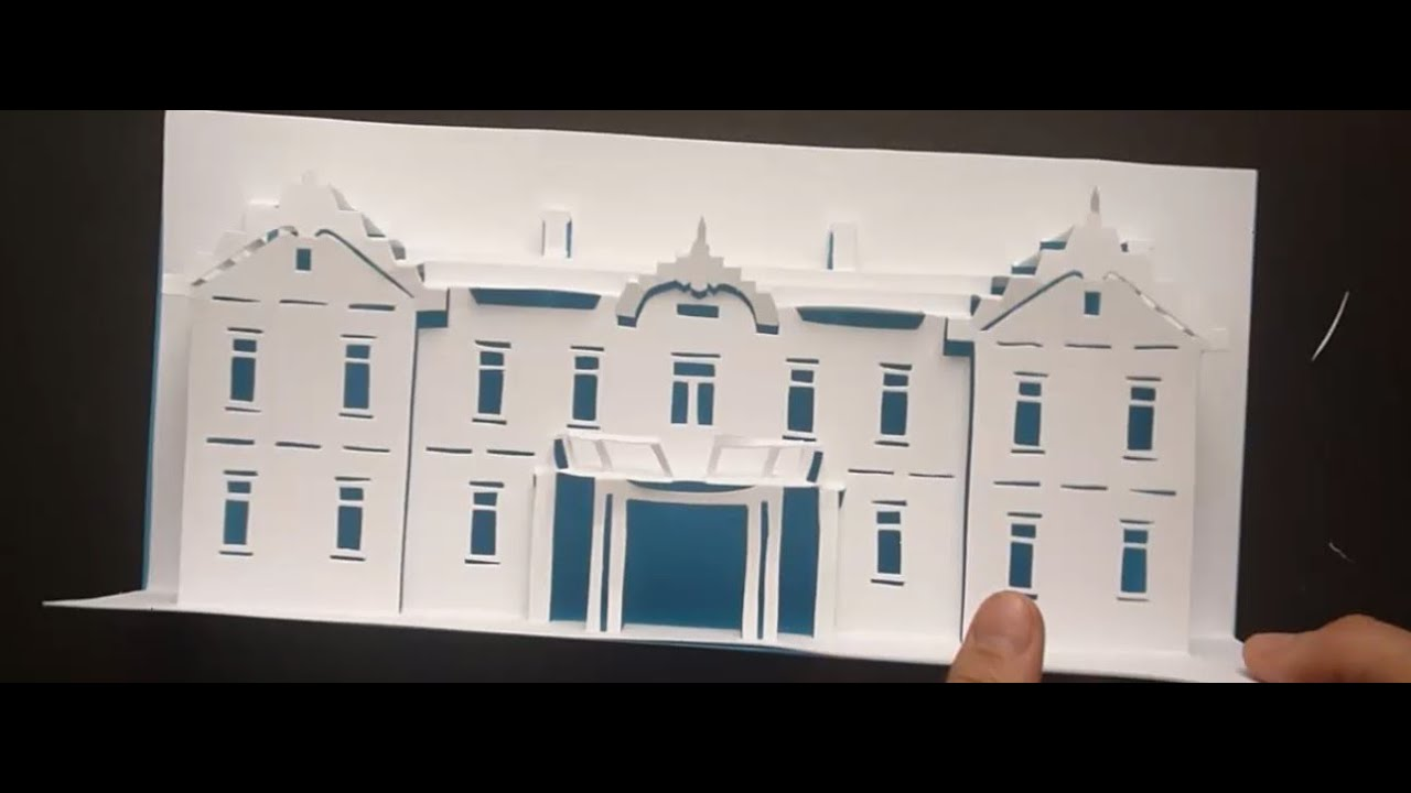 Pop Up Hotel Card Tutorial, Origamic Architecture - YouTube