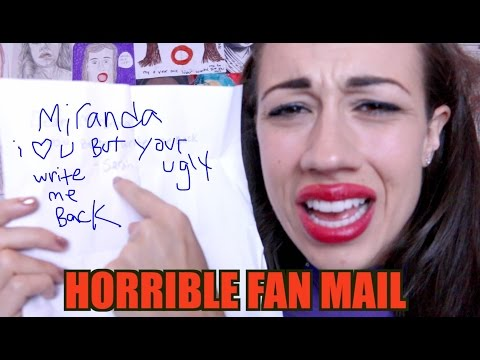 HORRIBLE FAN MAIL!