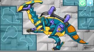Dino Robot Lightning Parasau (Собери динозавра робота)