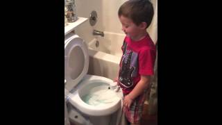 1.2015 Aidan Caught Cleaning the Toilet