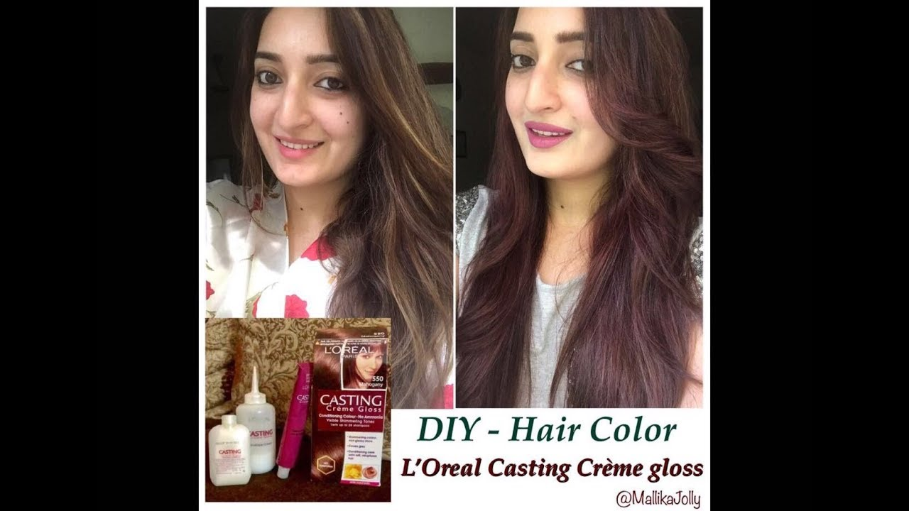 78426ed0d How to Colour your hair at home - L'Oreal Casting Creme Gloss - YouTube