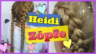 ♥ HEIDI ZÖPFE nach außen geflochten ♥ Holländische Zöpfe ♥ Flechtfrisur für Mädchen