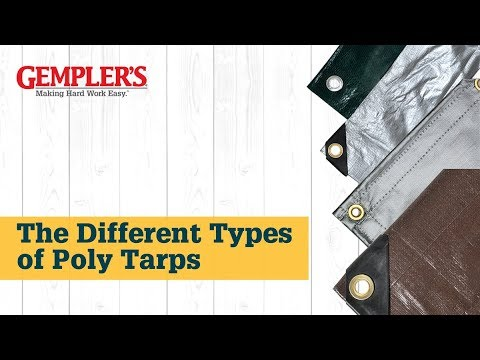 The Different Types of Poly Tarps and the Best Tarp for What You Need  Covered   Tips from GEMPLER'S