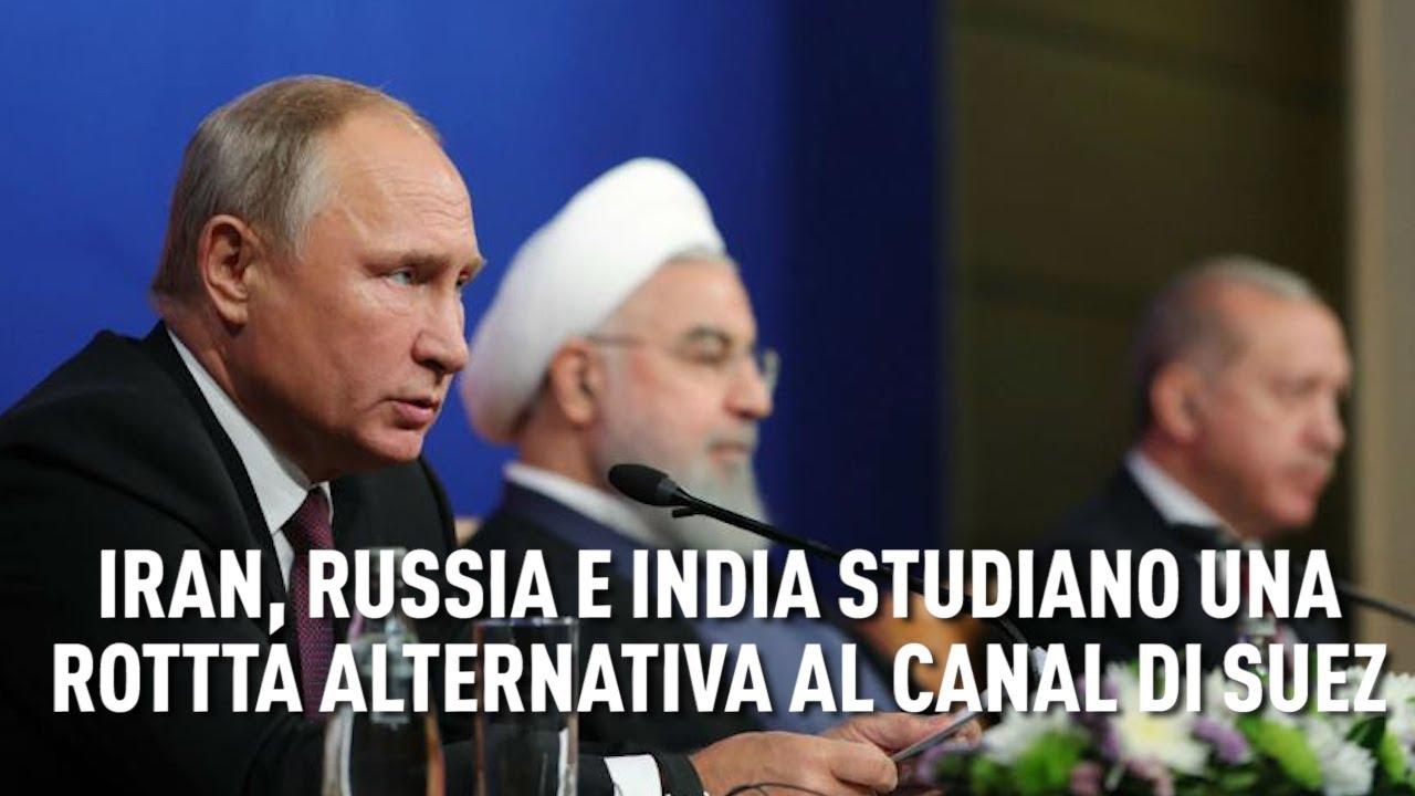 PTV News - 02.11.18 - Iran, Russia e India studiano una rotta alternativa al Canale di Suez