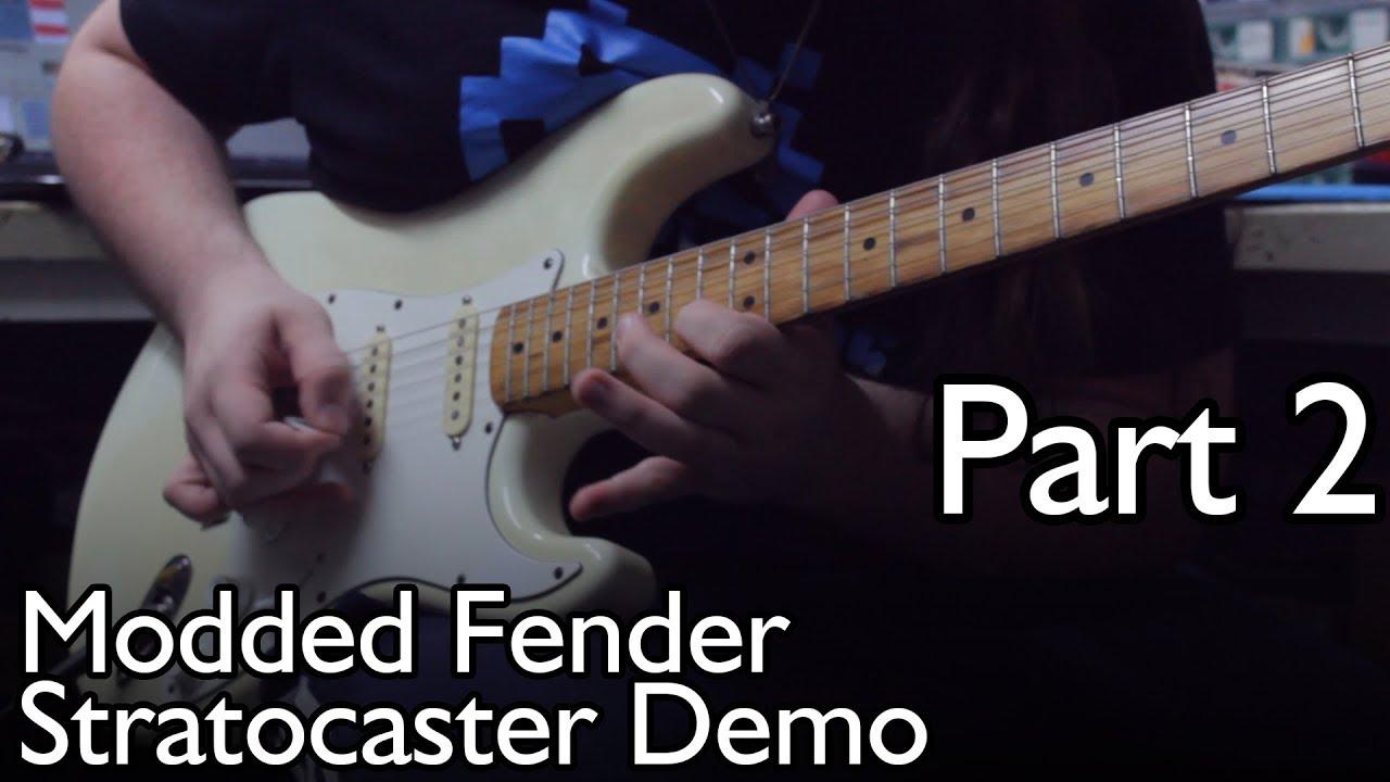 fender stratocaster ec mid boost tbx tone control demo part 2 distortion  [ 1280 x 720 Pixel ]