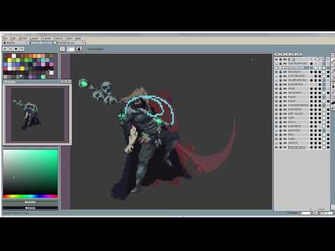 Pixel Art Timelapse: Necromancer Cast Animation