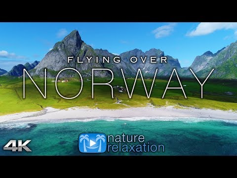 FLYING OVER NORWAY (4K UHD) 1HR Ambient Drone Film + Music by Nature Relaxation™ for Stress Relief thumbnail