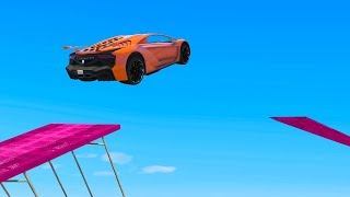 IMPOSSIBLE MILE HIGH STUNT JUMPS! - GTA 5 Funny Moments