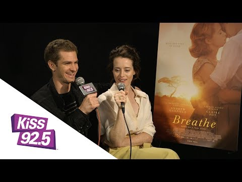 Andrew Garfield and Claire Foy Talk 'Breathe' with Damnit Maurie