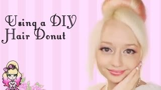 How To Get The Perfect Bun With A Diy Hair Donut! - Violet Lebeaux