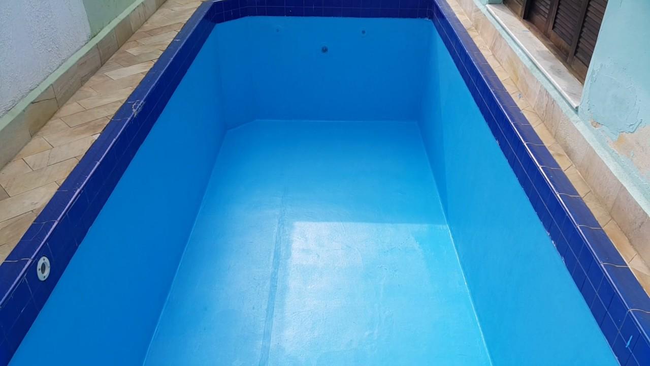 Piscina revestida com vinil l quido para piscinas youtube - Impermeabilizantes para piscinas ...