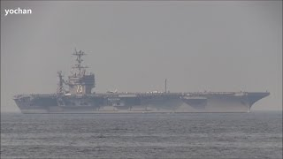Aircraft carrier of United States Navy.Nimitz class - USS George Washington (CVN 73) 2013 patrol