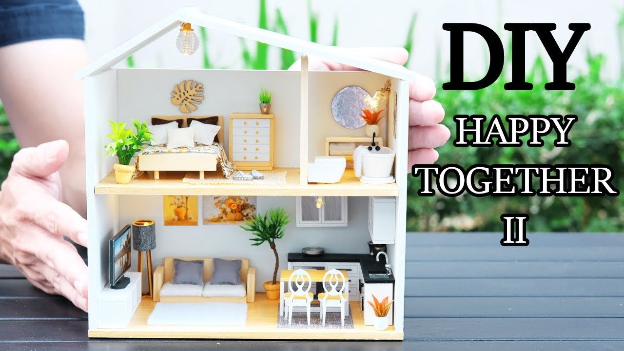 Diy Miniature Dollhouse Kit Happy Together 2 With