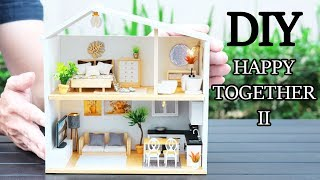 Diy Miniature Dollhouse Kit || Happy Together 2   With Full Furniture & Light