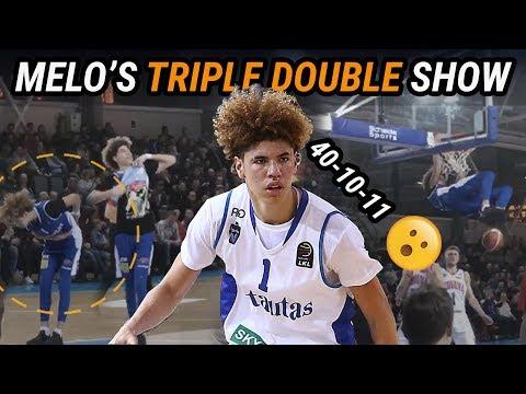 LaMelo Ball Drops 40 POINT TRIPLE DOUBLE & Rocks Lonzo's Merch! LaVar's Head Coaching Debut!