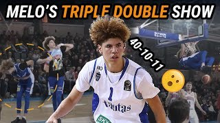 LaMelo Ball Drops 40 POINT TRIPLE DOUBLE & Rocks Lonzo's Merch! LaVar's Head Coaching Debut!