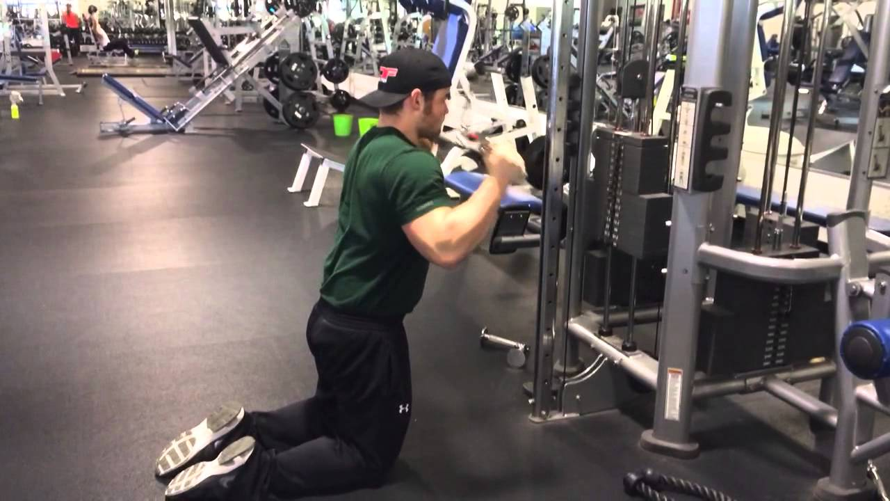 Hammer Grip Bench Press Part - 37: Kneeling Hammer-Grip Cable Tricep Press Downs