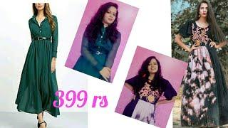 tripplepanda.com & shopclues online shopping review & haul || Best affordable gown