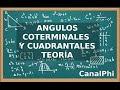 Angulos Coterminales y ángulos cuadrantales. Teoría.