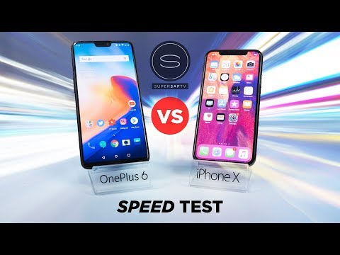 OnePlus 6 vs iPhone X SPEED Test