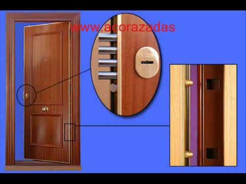 Puertas acorazadas de alta seguridad youtube for Puertas seguridad