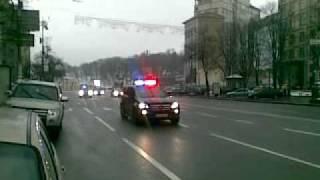 Кортеж Президента - как Янукович едет на работу