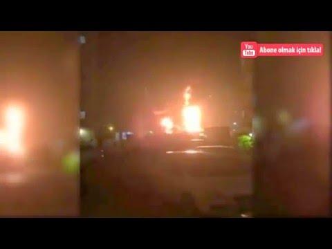 Adana'da Tır'ın patlama anı kameraya böyle yansıdı