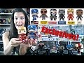 Unboxing Civil War Funko Pop Exclusive Ironman -Falcon -Captain America - Black Panther -Crossbones