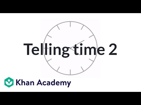 Telling Time Exercise Example 2 | Measurement And Data | Early Math | Khan Academy