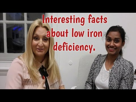 Interesting facts about low iron deficiency.