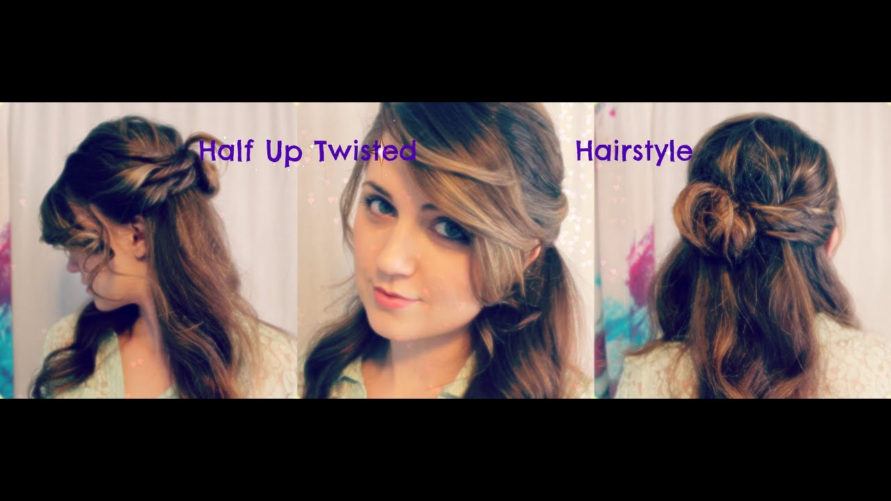 Half-up Twisted Curly Hairstyle Tutorial Perfect for Wedding ...